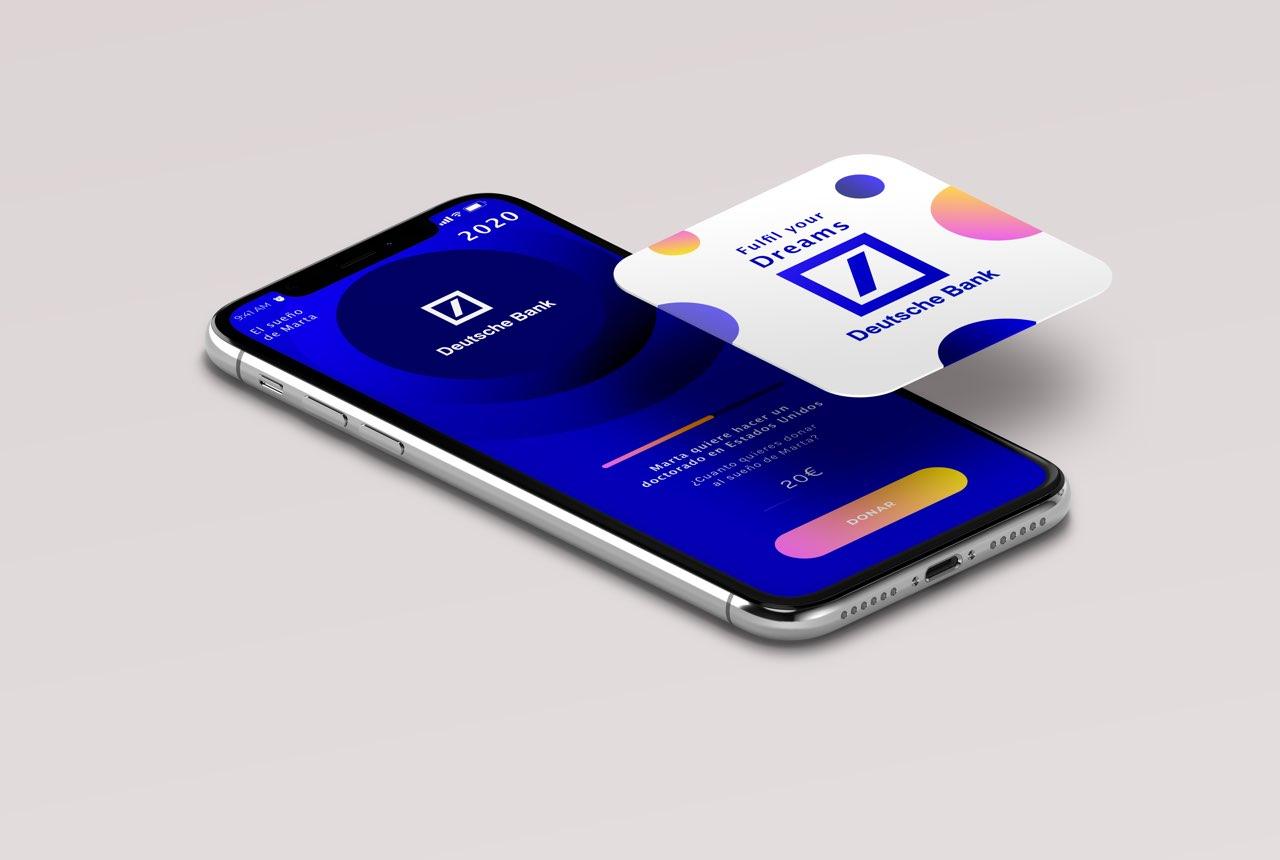 Ideación y diseño de un producto digital Deutsche Bank, el tótem que hace realidad tus sueños.